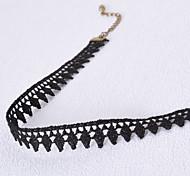 Женский Ожерелья-бархатки Готический ювелирные изделия Ожерелья-обручи Татуировка Choker Кружево Ткань Тату-дизайн Мода Бижутерия