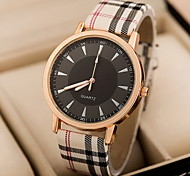 Women's Watch Fashion Plaid Pattern Band