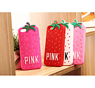 Pink Strawberry Silicon Soft Phone Cases for iPhone5/5S