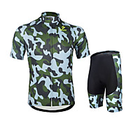 WEST BIKING® New Camouflage Short Sleeve Cycling Jersey Suit Cycling Mountain Bike Clothes Xihansugan