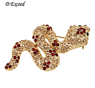 D Exceed Women's AtatementCtysta Rhinestone Pin AndBroochesCute Snake Brooche And Pins 2016 New Fashion