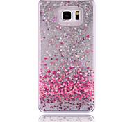 Para Samsung Galaxy Note Liquido Flutuante Capinha Capa Traseira Capinha Coração PC Samsung Note 5 / Note 4 / Note 3