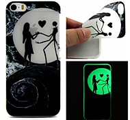 For iPhone 5 Case Glow in the Dark Case Back Cover Case Cartoon Soft TPU iPhone SE/5s/5