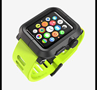Apple Watch Case Rugged Protective Case with Strap Bands for Apple Watch / Watch Sport 38mm 42mm (Metal shell)
