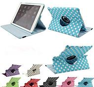 stampa di lusso a pois 360 rotazione la cassa di cuoio dell'unità di elaborazione per i casi tablet aria Apple iPad Smart Cover fogli