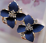 Fashion Crystal Drops of Oil Flower Earring