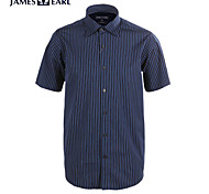 JamesEarl Men's Shirt Collar Short Sleeve Shirt & Blouse Blue - M21X5000504