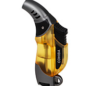 5520 One Hole Blue Fire Windproof Torch -Yellow ,Grey