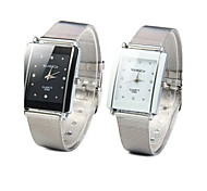 Mulheres Relógio de Moda Quartz Relógio Casual Lega Banda Relógio de Pulso Prata