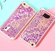 Cherry Blossoms Cat Liquid Back Quicksand Transparent Clear PC Hard Cover For iPhone 6/iPhone 6S