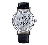 Men's PU Analog Mechanical Wrist Watch Cool Watch Unique Watch
