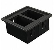Iztoss 2 side Black Plastic Rocker Switch Panel Housing Switch Holder