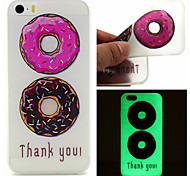 patrón de donas color TPU caja del teléfono luminosa para el iphone 5 / 5s