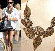 New Arrival Fashion Jewelry Simple Retro Leaf Necklace