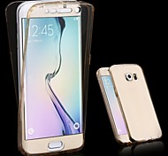 Front+Back 2 Pieces Soft TPU Transparent 360 Degree Full Touch Screen Case for Samsung Galaxy S6/S6 edge/S6 edge Plus
