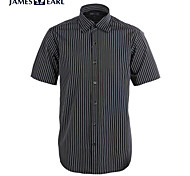 JamesEarl Men's Shirt Collar Short Sleeve Shirt & Blouse Gray - M21X5001017