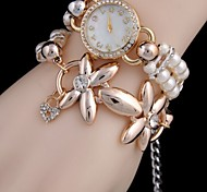 Woman Pearl Flower  Wrist  Watch