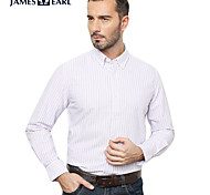 JamesEarl Men's Shirt Collar Long Sleeve Shirt & Blouse Purple - M81XF000633