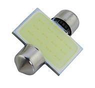 2pcs Festoon 31mm 3W 240lm 6000K COB LED White Light Car Reading Lamps(DC12V)
