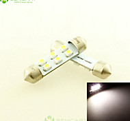 2 x 39mm C5W SV85 6x2835SMD LED 6000K White  Car Interior Light DC12V