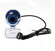 Computer Camera Transparent Clip-on Base 8.0 Webcam Blue