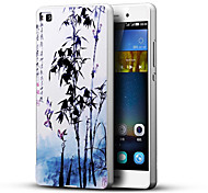 Chinese Landscape Painting 3D Printing Carving Hard Back Case Ultrathin Metal Bumper for Huawei P8 Case
