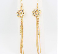 New Arrival Fashional Rhinestone Hollow Flower Earrings