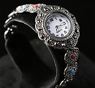 Women's Vintage Noble and Elegant Style  Plating Alloy Inlaid Crystal Electronic Watch 02