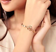 Fashion Jewelry High Quality Crystal Hollow Rose Bracelet