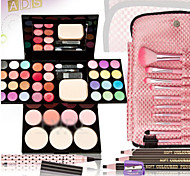 Beginners Makeup Set 39 Color PRO Makeup Set Eyeshadow Palette Blush Lip Gloss Concealer+Brush+Eyebrow Pencil+ Eyeliner