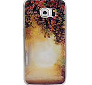 Memory Tunnel 3D Pattern TPU + PMMA Soft Phone Case for Samsung Galaxy S6