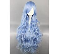 Lolita Perücken Niedlich Blau Elegant Lolita Perücken 90 CM Cosplay Perücken einfarbig Perücke Für