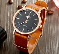 Fashion Design High Quality Quartz Watch Leather Brown Belt Watches for Women Men