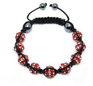 Crystal Jewelry Bracelet For Women New Crystal Bracelets Micro Pave CZ Disco Ball 10mm Bead Crystal Bracelet