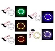 2pcs 80mm / 90mm 4w 400lm ojos blanco / azul / rojo / verde / ángel de luz de color rosa claro (DC12V)