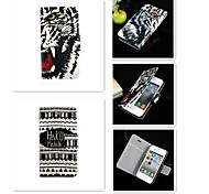 Cool Word Nu Tiger Pattern PU Leather Full Body Case for iPhone 4/4S