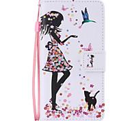Corpo Completo carteira / Entrada de Cartão / com suporte Desenhos Animados Couro Ecológico Duro Case Capa Para HuaweiHuawei P9 / Huawei