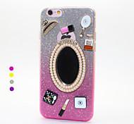 Espejo TPU caso trasero para iPhone6 además, 6s más (color clasificado)