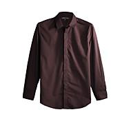 JamesEarl Men's Shirt Collar Long Sleeve Shirt & Blouse Brown - DA112045456