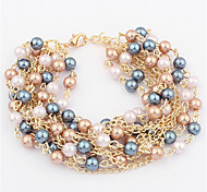 Fashion Jewelry Multilayer Pearl Bracelet