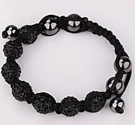 Herrn Damen Bettelarmbänder Strang-Armbänder Modisch Klassisch Perlenbesetzt Krystall Imitation DiamantMarineblau Golden Hellblau 3 #