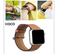 hoco Luxus-Leder-Bandbügel Armband Ersatz-Armband mit Adapterverschluss für Apfel Uhr 42mm / 38mm