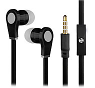 New Super Bass Headphone 3.5mm In Ear Secure Fit  with Mic 3.5mm Earbuds for Samsung S4/S5