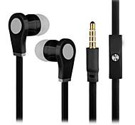 nuevos auriculares de 3,5 mm de graves súper oído ajuste seguro con 3,5 mm de micrófono auriculares para samsung s4 / s5