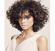 Fashion Lady Short Black Color Curly Cosplay Synthetic Wigs For Africa Women.