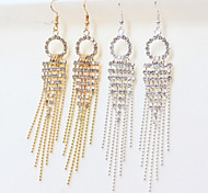 New Arrival Fashional Rhinestone Tassel Earrings