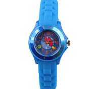 Fashion Ladies Watch Cartoon Blue Silicon Tape