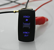 Iztoss 7 pins Blue Laser Backlit 20A 12V Momentary (ON)-OFF -(on)switch WINCH IN/OUT Rocker Switch