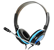 st908-3.5mm dobrar fones de ouvido estéreo Fones de ouvido Headset controlador cabo destacável para pc iphone4 / 5 / 6s / 6splus