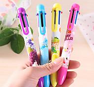 Cartoon 6-Color Ballpoint Pen(1 PCS Random Color)